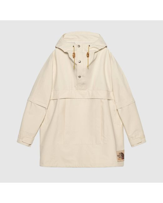 Gucci 【公式】 (グッチ)the North Face X ナイロン ウィンドブレーカーホワイトホワイト Natural