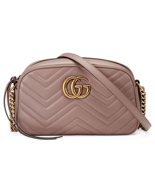 Borsa a spalla GG Marmont matelassé misura piccola di Gucci in Multicolor
