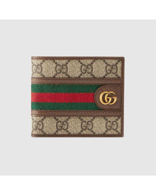 Gucci 【公式】 (グッチ)〔オフィディア〕GGコイン ウォレットGGスプリーム ベージュ Multicolor