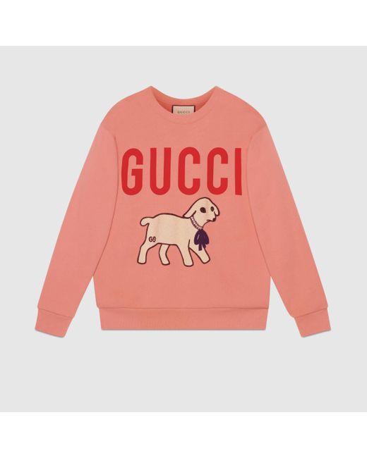 Gucci グッチラム パッチ付き オーバーサイズ スウェットシャツ Multicolor