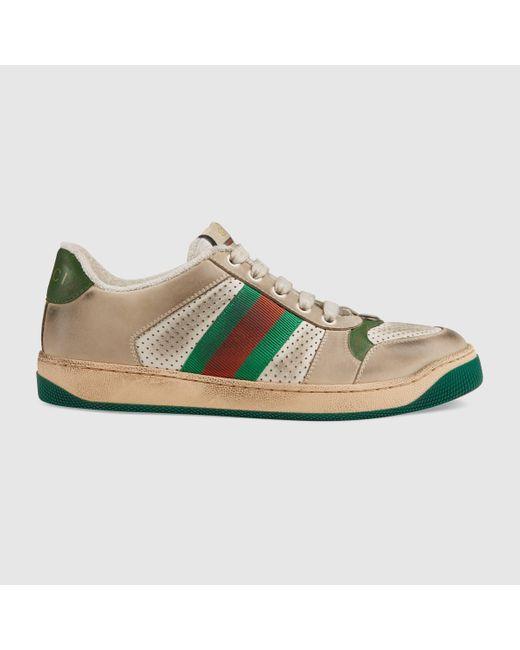 Gucci グッチ〔スクリーナー〕ウィメンズ レザー スニーカー Multicolor