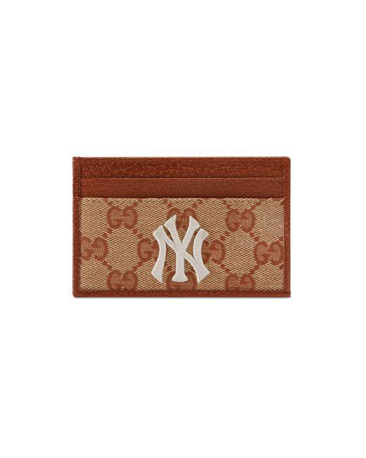 Gucci - Brown NY YankeesTM Kartenetui aus Original GG for Men - Lyst