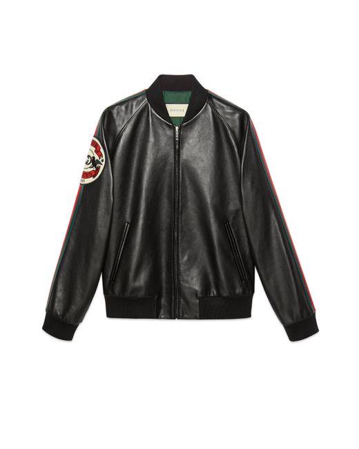 Gucci Bomberjacke mit Patch in Black für Herren
