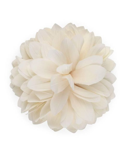 Gucci - White Flower Brooch In Silk And Cotton - Lyst