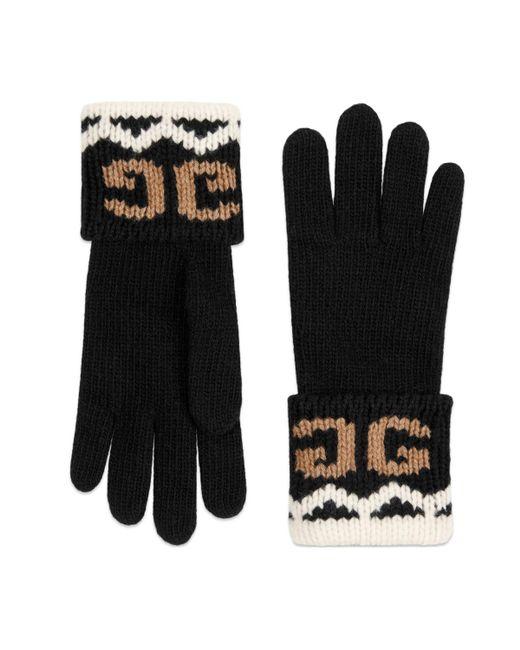 2144000c17aee Gucci - Black Handschuhe aus Wolle mit gespiegeltem GG for Men - Lyst ...