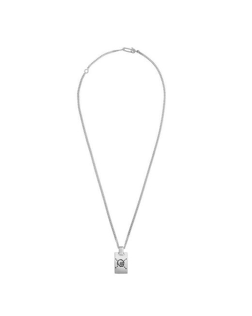 Gucci | Metallic Ghost Pendant Necklace In Silver | Lyst
