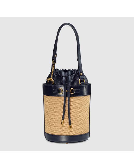 Gucci 【公式】 (グッチ)〔グッチ ホースビット 1955〕スモール バケットバッグベージュ ヴィンテージキャンバスニュートラル Multicolor