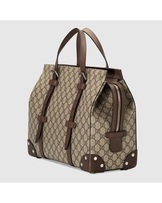 Gucci Shopper mit Lederdetails in Natural für Herren