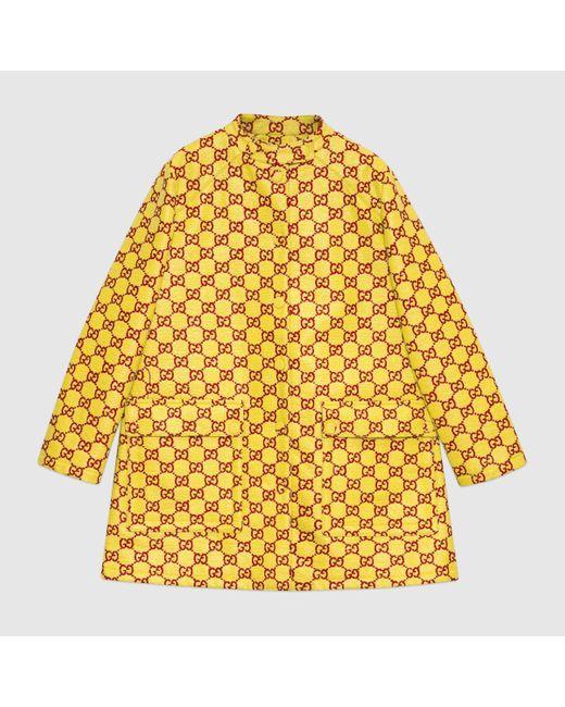 Gucci グッチウォータープルーフ GGツイード コート Yellow