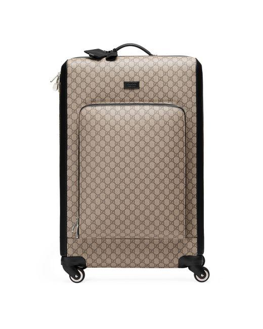 Gucci - Natural Gg Supreme Suitcase - Lyst