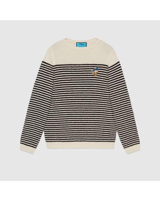 メンズ Gucci グッチドナルドダック ストライプ ウール セーター Multicolor