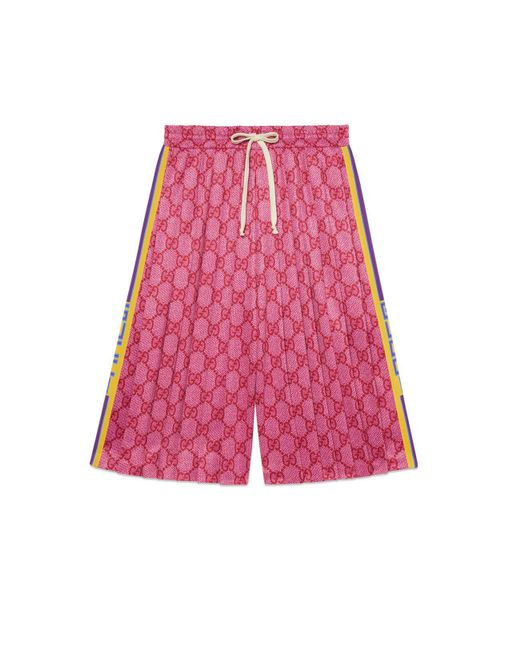 Gucci Pink GG Technical Jersey Shorts