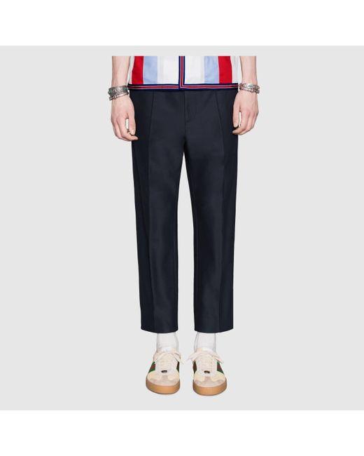 メンズ Gucci グッチ ストライプ ジョギングパンツ Blue