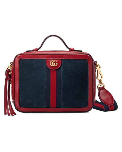 f65a9d2c0f8 Gucci - Blue Ophidia Small Shoulder Bag - Lyst ...