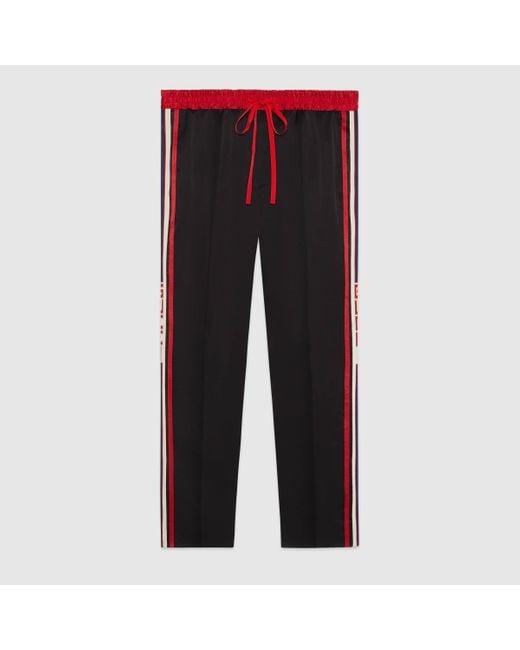 メンズ Gucci グッチアセテート ジョギングパンツ Black