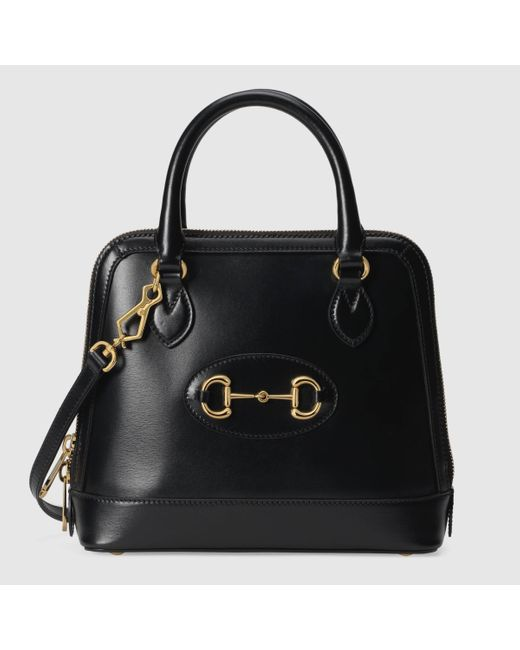 Gucci グッチ〔グッチ ホースビット 1955〕スモール トップハンドルバッグ Black