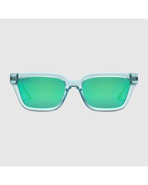 Gucci Sonnenbrille mit rechteckigem Rahmen in Blue für Herren