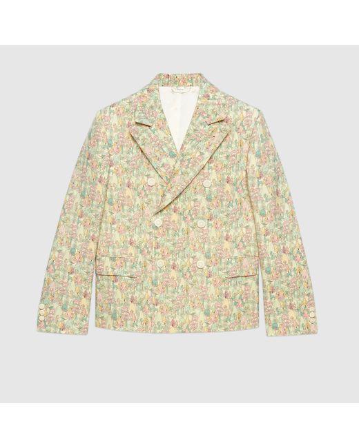 Gucci Jackett aus Wolle mit Liberty-Print und Blumen in White für Herren