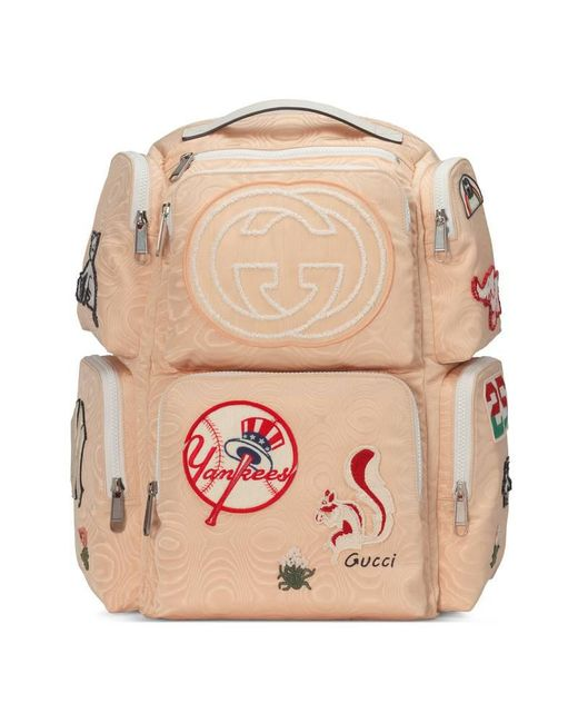 d39443be2dc5 Gucci - Multicolor Patch Embellished Leather Trimmed Canvas Backpack for  Men - Lyst