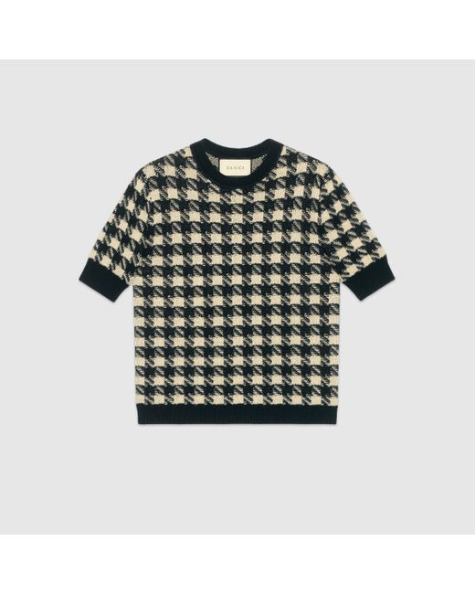 Gucci ハウンドトゥース ショートスリーブ セーター Multicolor