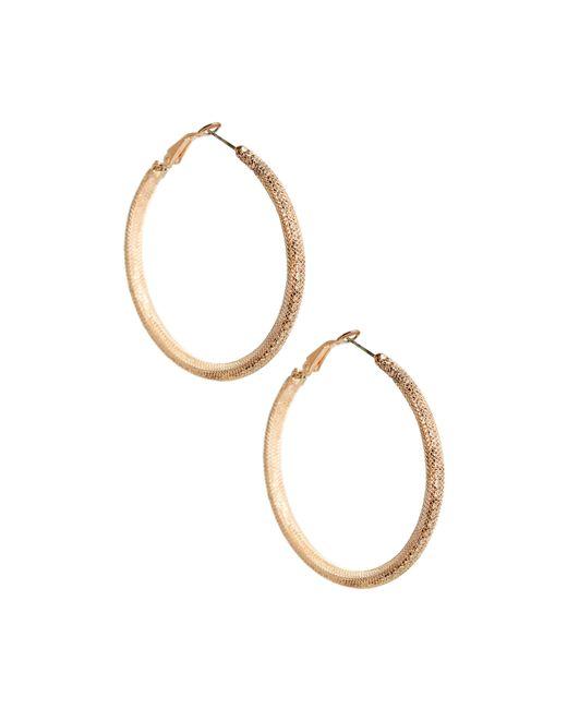 Guess | Metallic Peyton Mesh Hoop Earrings | Lyst