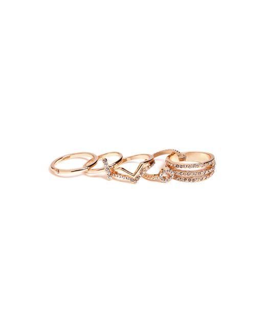 Guess - Metallic Sasha Midi Ring Set - Lyst
