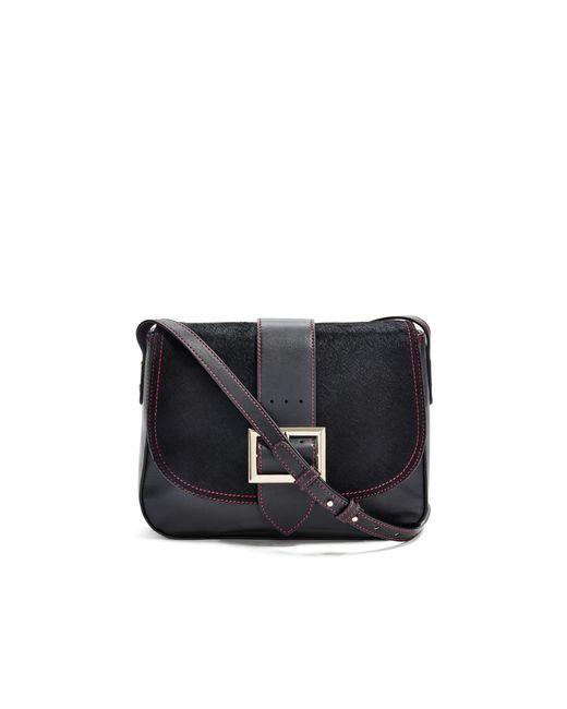 Guess - Black Belted Saddle Bag - Lyst