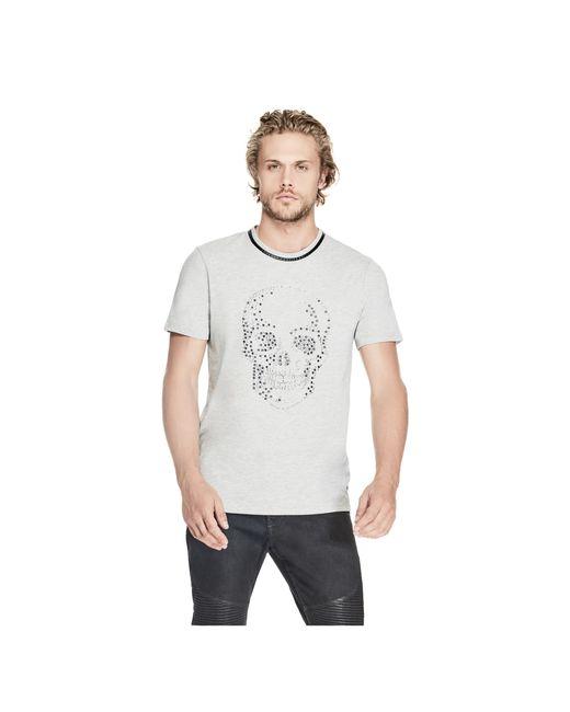 Guess | Gray Stream Studded Skull Tee for Men | Lyst