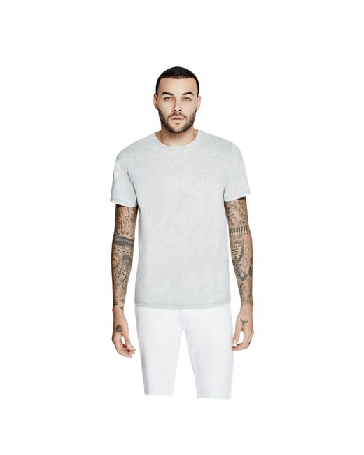 Guess | Gray Mason Shine Crewneck Tee for Men | Lyst
