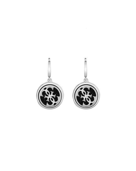 Guess   Metallic Amulet Logo Drop Earrings   Lyst