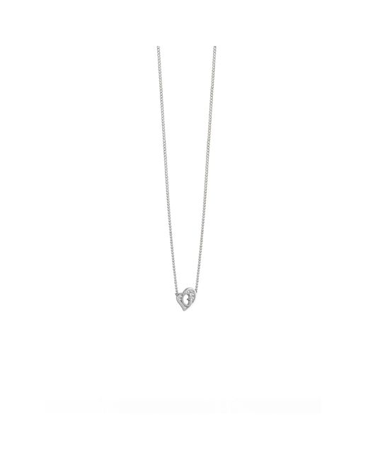 Guess | Metallic G Hearts Rhodium-plated Necklace | Lyst