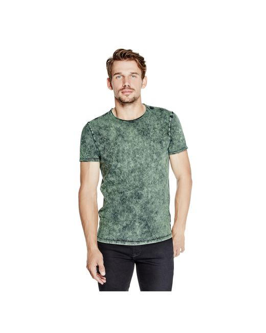 Guess | Green Gunnarson Washed Tee for Men | Lyst
