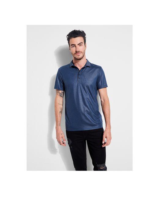 Guess - Blue Mason Short-sleeve Shine Polo for Men - Lyst