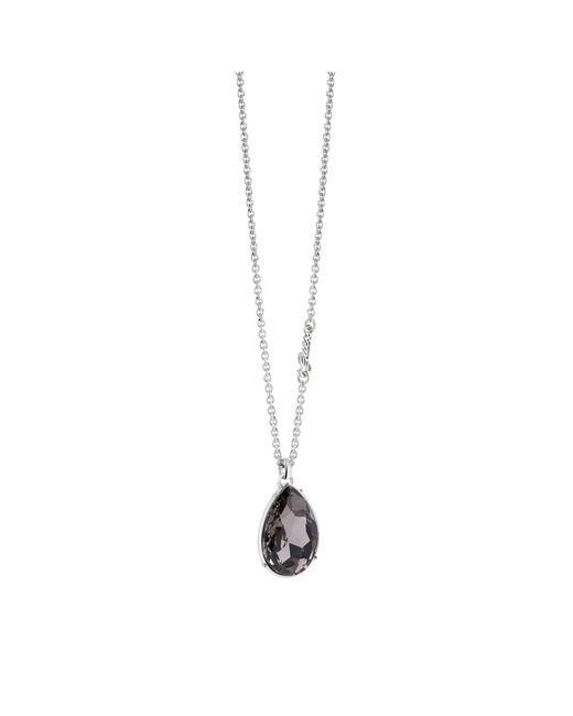 Guess | Metallic The Drop Necklace With Crystal Drop Charm | Lyst