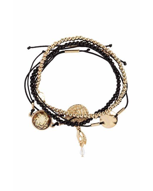 H&M   Black 5-pack Bracelets   Lyst
