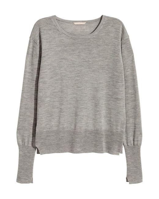 H&M | Gray Cashmere-blend Jumper | Lyst