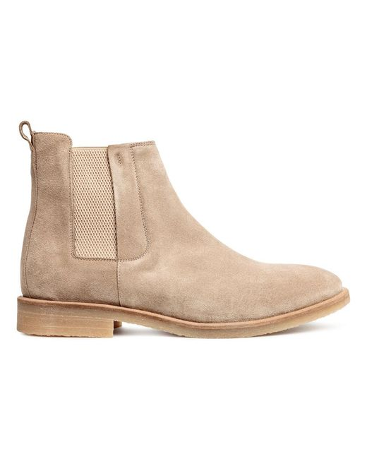 H&M | Natural Boots | Lyst