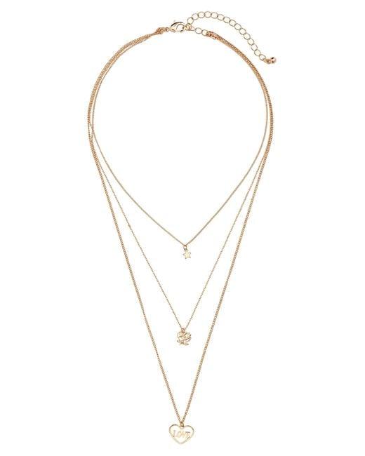H&M | Metallic Three-strand Necklace | Lyst