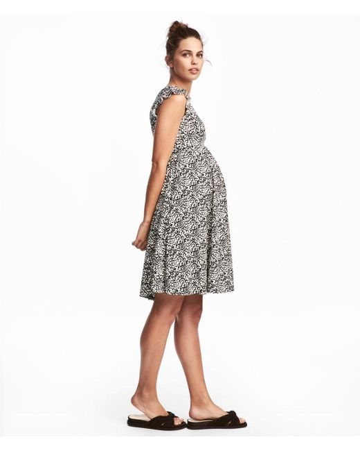 H&M | White Mama Frill-sleeved Dress | Lyst