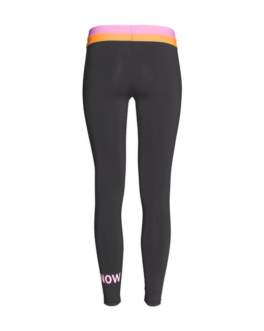 h m sports tights in pink black save 40 lyst. Black Bedroom Furniture Sets. Home Design Ideas