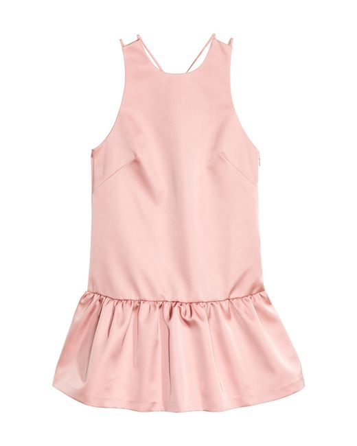 H&m Satin Dress In Pink