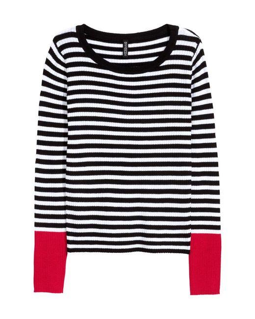 H&M   Black Rib-knit Jumper   Lyst