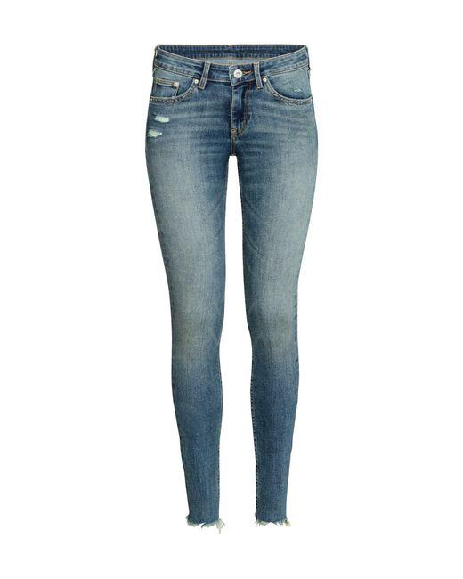 H&M | Blue Skinny Regular Ankle Jeans | Lyst
