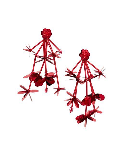 H&M   Red Long Earrings   Lyst
