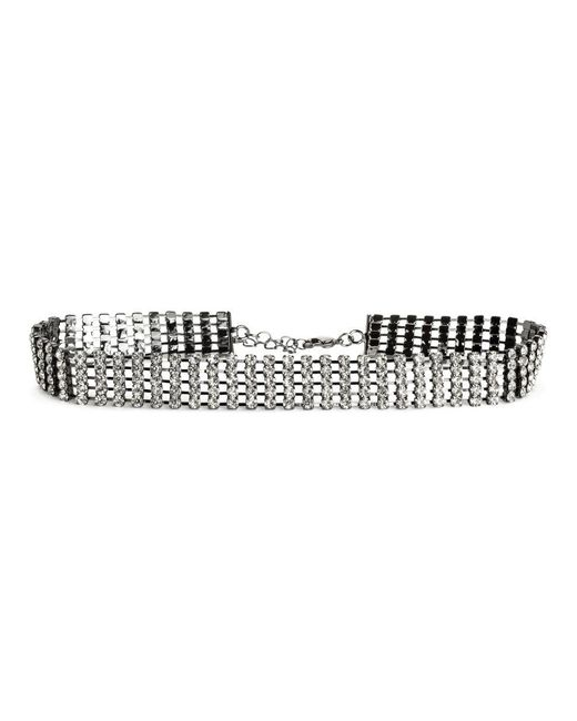 H&M   Metallic Choker With Sparkly Stones   Lyst