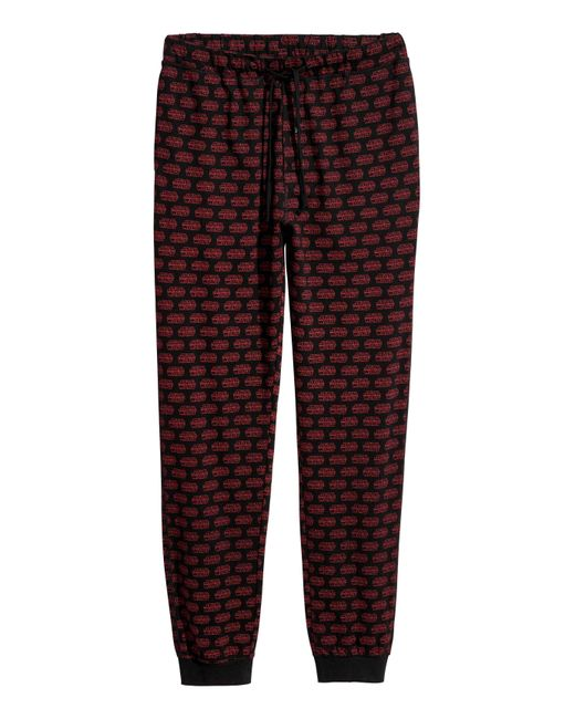H&m Printed Pyjama Bottoms in Red for Men | Lyst