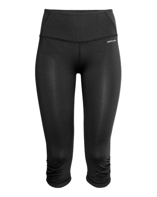 H&M | Black 3/4-length Yoga Tights | Lyst