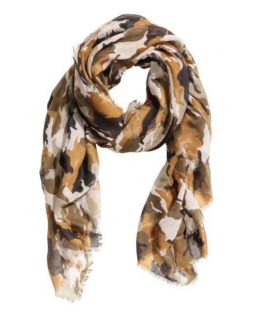 H&M | Natural Scarf | Lyst