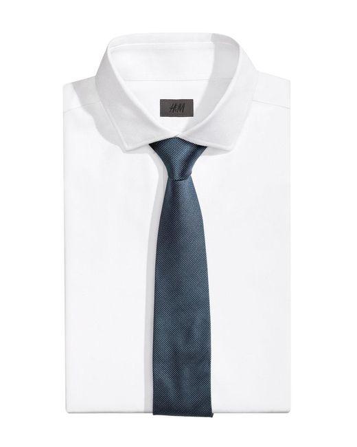 H&M | Blue Textured Silk Tie for Men | Lyst
