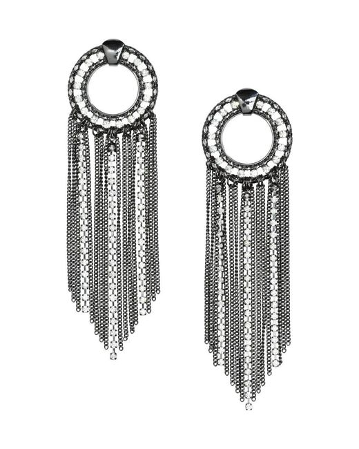 H&M | Gray Large Earrings | Lyst